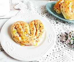心形面包 孩子爱吃的玉米沙拉火腿肠#相约MOF#的做法