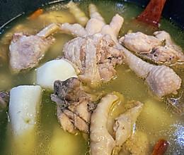 马蹄山药三黄鸡汤的做法