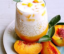 #公主系列#水蜜桃椰浆西米露的做法