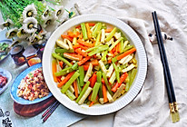 #今天吃什么#低脂低卡的杏鲍菇胡萝卜炒西芹的做法