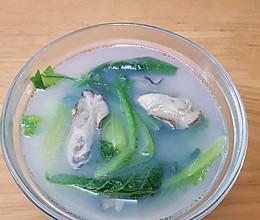 小白菜牡蛎汤的做法