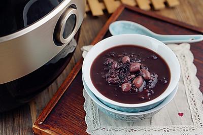 黑米花生红豆粥