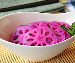 胭脂藕片#精品菜谱挑战赛#的做法
