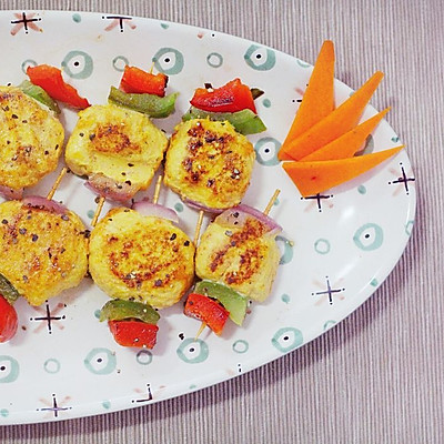 减肥健身餐-香烤胡萝卜鸡肉丸