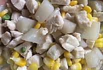 玉米豌豆山药炒鸡丁的做法