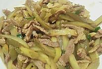 酸黄瓜炒肉的做法