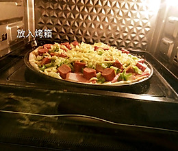10寸香肠pizza的做法