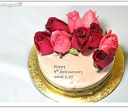 玫瑰白巧克力冻芝士的做法