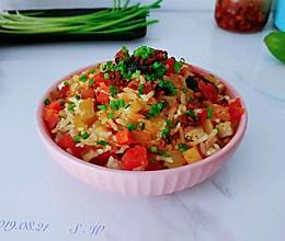 葱椒茄酱豆腐饭的做法