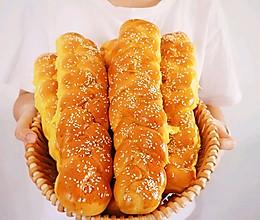 南瓜辫子面包❗新手看过来,直接法一样柔软拉丝的做法