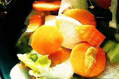 酸甜口的泡菜(3步完成)