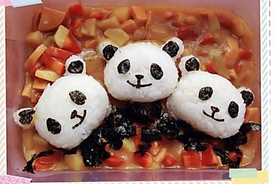 熊猫咖喱饭团