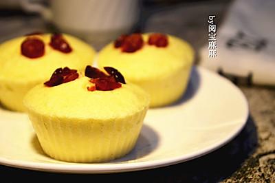 好吃不上火的蔓越莓蒸蛋糕