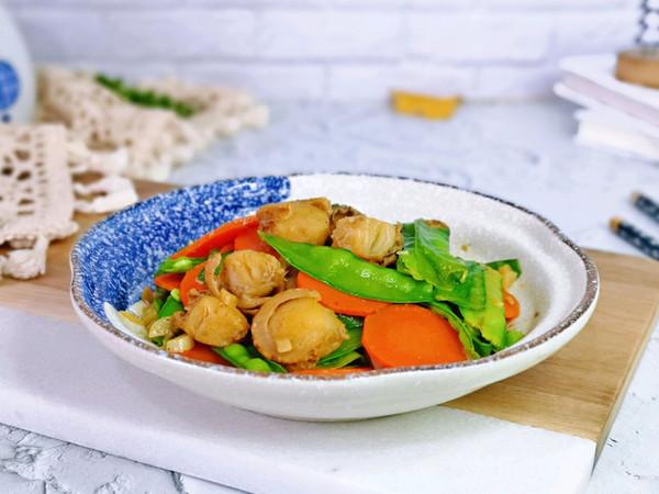 荷兰豆炒扇贝的做法