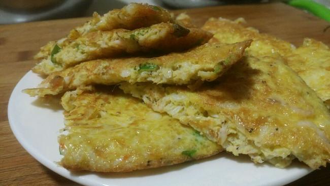 小虾煎鸡蛋(补钙)的做法