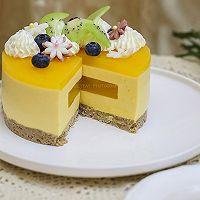 百香果南瓜慕斯生日蛋糕(百香果果冻夹层)的做法图解26
