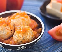 开胃茄酱豆腐丸的做法
