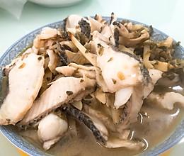 雪菜鱼片的做法