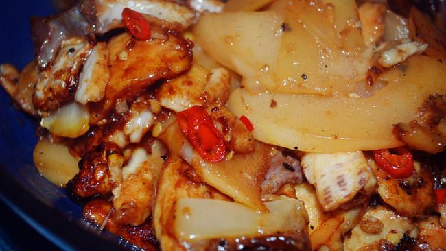 酸笋鱼块的做法