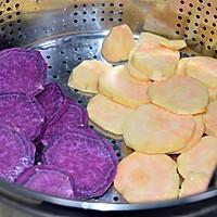 超级弹牙爽口的台湾美食—椰汁三色芋圆的做法图解1