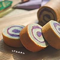 紫薯戚风蛋糕卷#沃康山茶油#的做法图解12