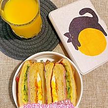 雞蛋火腿肉松三明治