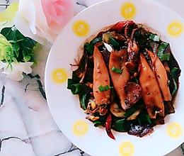 #一人一道拿手菜#葱爆笔管鱼的做法