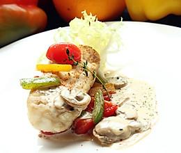 法式银鳕鱼配奶油汁的做法