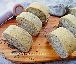 【黑芝麻蛋糕卷】健康甜品|浓郁芝麻香的做法