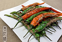 辣椒镶肉 的做法