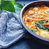 #快手又营养,我家的冬日必备菜品#咖喱鲜虾乌冬面的做法图解5