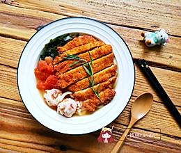 【一人食】猪排味噌乌冬的做法