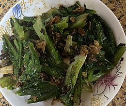 #餐桌上的春日限定#豆豉鲮鱼炒油麦菜的做法