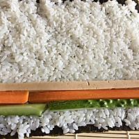 #爽口凉菜,开胃一夏!#肉松寿司卷的做法图解9