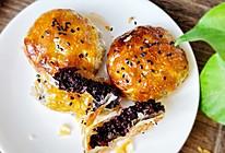 #一道菜表白豆果美食#手不碰面~黑米饼的做法