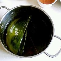 绿黍红花枣生粽的做法图解1