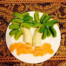 椰树创意水果拼盘
