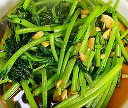 蒜蓉蚝油茼蒿-营养的绿色菜的做法