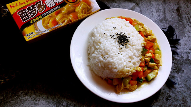 咖喱鸡丁饭#百梦多Lady咖喱#的做法