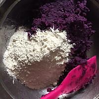 紫薯麻薯饼的做法图解3