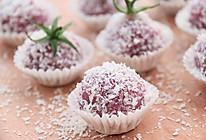 椰香紫薯糯米糍的做法