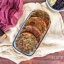 #一人一道拿手菜# 虾米藜麦杂粮鸡蛋饼