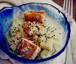 芝麻油条沙拉~三伏素食的做法
