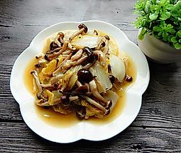 白菜炒蟹味菇的做法