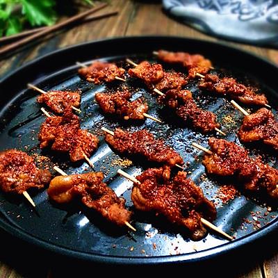 烤爸爸~春节餐前小零食~绵羊音的牙签羊肉