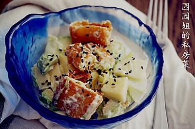 芝麻油条沙拉~三伏素食