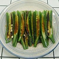 夏天最喜欢吃的蒜香秋葵,让你胃口大开的做法图解7