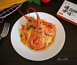阿根廷红虾咖喱意面#安记咖喱快手菜#的做法