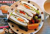 鸡蛋火腿三明治#憋在家里吃什么#的做法