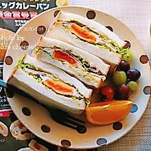 鸡蛋火腿三明治#憋在家里吃什么#
